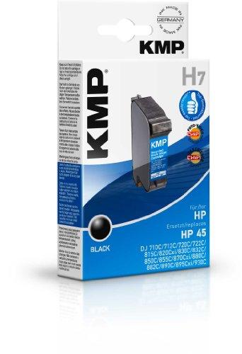 Preisvergleich Produktbild KMP H7 Tintenpatrone schwarz kompatibel mit HP 51645 A