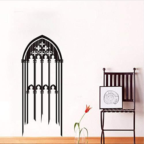 Txyang Gothic Window Decalcomania Da Muro Candele Fiori Abbellimento Scava Fuori Gli Autoadesivi Smontabili DelPvc Delladecorazione Della Stanzatrasporto 56 * 134.Cm
