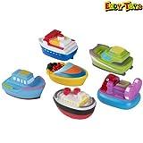 Set 3 Pezzi Barchette Giocattolo da Bagno Modelli Assortiti Barca per Bagnetto Eddy Toys