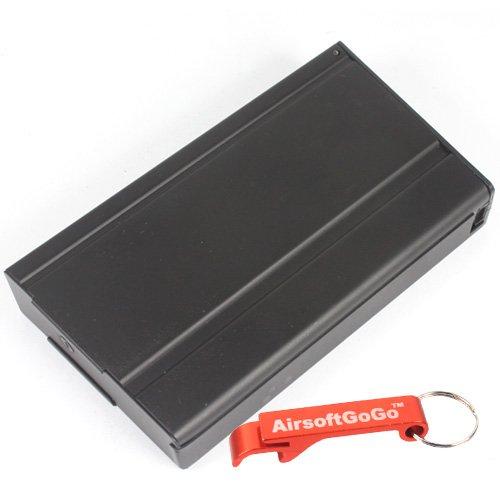 180rds Metall Mid-Cap Magazin für Softair M14 EBR Socom Marui G&P JG AEG- AirsoftGoGo Schlüsselanhänger Inklusive