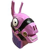 Miminuo Fortnite Rainbow Horse Lama Traje de Deriva de la máscara para Halloween Cosplay Látex Natural
