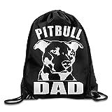 Pitbull Dad Drawstring Backpack Bag Beam Mouth School Travel Backpack Rucksack Shoulder Bags for Men/Women