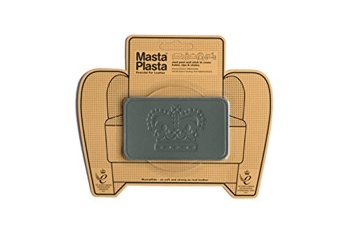 MastaPlasta Grey Self-Adhesive Leather Repair Patches. Choose Size/Design. First-aid for Sofas, car...