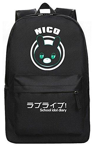 siawasey Japanische Anime Cosplay Tagesrucksack Rucksack Schultertasche Schultasche schwarz Love ()