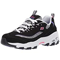 Skechers Women's Athleisure Sneaker, Black/Purple, 9 US medium