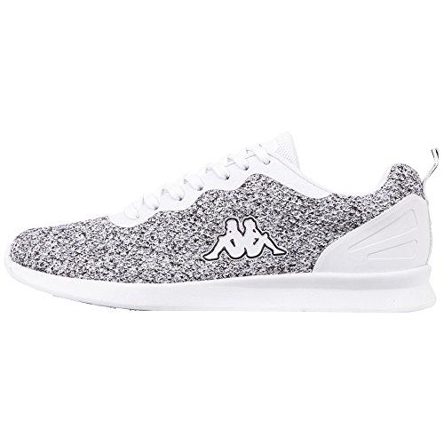 Kappa Damen Hover Sneaker, Weiß (White/Black 1011), 38 EU