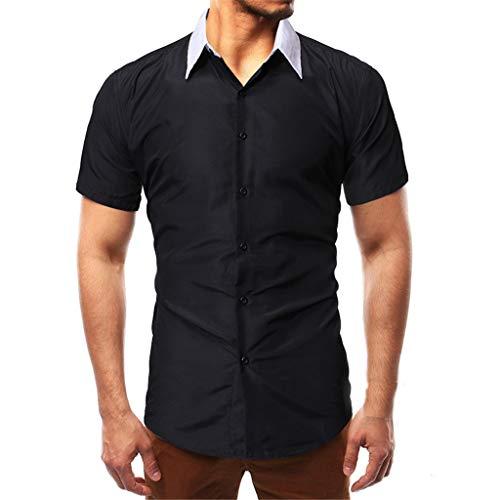 ODRD Hot Herren Shorts Frühling Sommer Herrenmode Solid Pathwork Style Design Smart Casual Shirts Tops Bluse Weste Vest T-Shirts Top Tanktop Bluse Tee t Shirts Medium Wash Denim Vest
