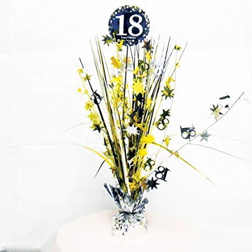 amscan 9900552 Tischdekoration 18 Sparkling Celebration, Silber & Gold