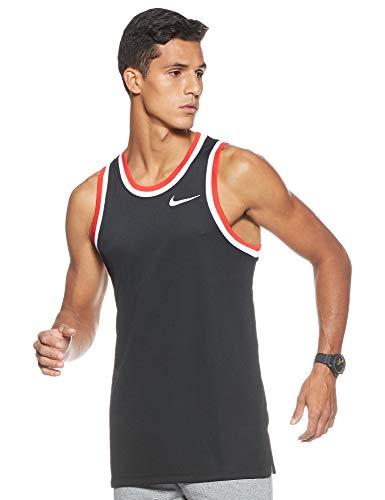 Nike Herren M NK DRY CLASSIC JERSEY Tank Top, Schwarz Black/White/010), M