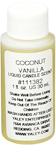 4 Unzen Kerze (Yaley Liquid Unzen Kerze Duft bottle-coconut Vanille, andere, mehrfarbig)