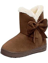 2dac2981a72 Minetom Mujeres Otoño Invierno Botines Zapatos Calientes Moda Botas Con  Bowknot