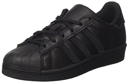 adidas Unisex-Kinder Superstar J Sneakers, Schwarz (Core Black), 38 2/3 EU (Superstar Adidas Schwarze)