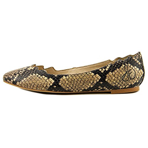 Sam Edelman Augusta Cuir Chaussure Plate Nat SnkPrt