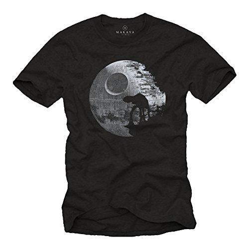 MAKAYA Camisetas Frikis - Hombre Negra XXL