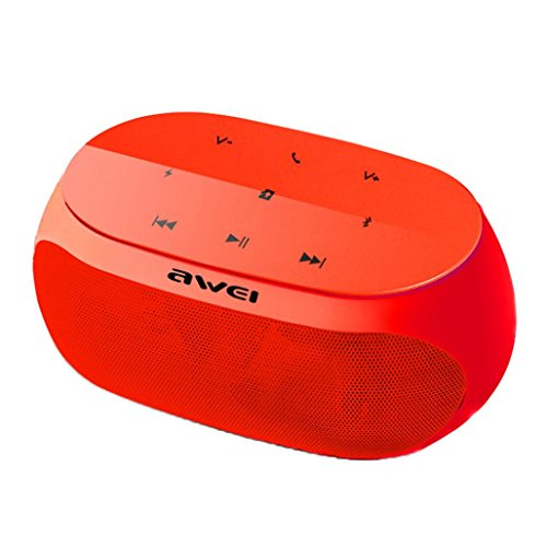 Stereo Portable Intercom (sunnymi Bluetooth Lautsprecher Lautsprecher Outdoor Portable Wireless Stereo Enhanced Bass (Rot))