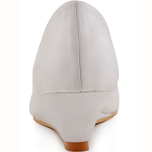 Elegantpark, Scarpe peep toe donna (Elfenbein(Ivory))