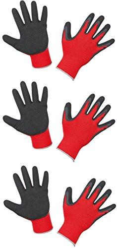 """Keron Handschuhe """"SmoothGrip"""", allgemeine Arbeitshandschuhe/Gartenhandschuhe, 3 Paar"""