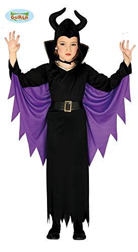 Guirca Kostüm Regina Malefica Mädchen 5/6 Jahre, Farbe schwarz und lila, 5-6, ()