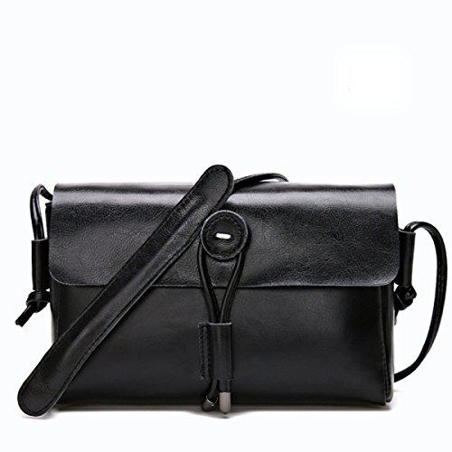 Sacco Per Cadaveri Trasversale Donne Retro Borsa A Tracolla In Pelle Messenger Bag Tote Borsa Con Tracolla Regolabile Black