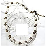EM-Keramik Halsband für Hunde, wahlweise mit Namen und weiteren Extras, Classic - Gold Diamonds