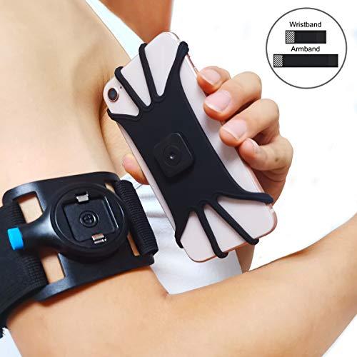 Wigoo Sportarmband Handy Armband Joggen Laufen Handyhalterung,für Arm und Handgelenk iPhone X/XS/XR/XS Max/8/8 Plus/7/7 Plus, Galaxy Note 9/Note 8/ Sumsung S10/S10+/S10e/S9/S8/S7, Huawei P30/P20/P10