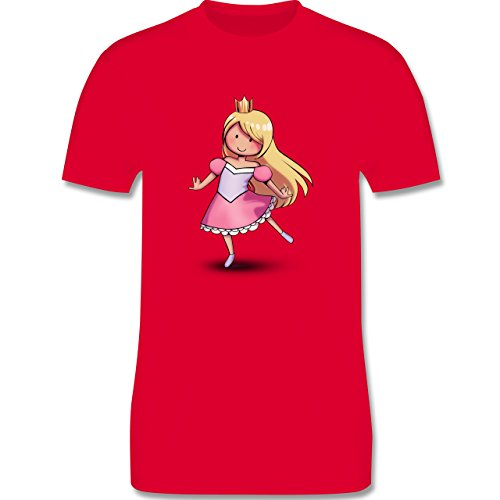 Karneval & Fasching - Tanzende Prinzessin - Herren Premium T-Shirt Rot