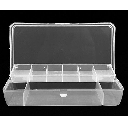 AGadget 2Schicht 15Fächer Tackle Box Kunstköder Haken Werkzeuge Zubehör Aufbewahrungsbehälter