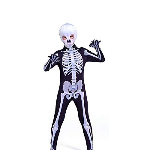 Lycra Gewebe Kostüm - YXIAOL Halloween Skelett Cosplay Kostüm, Horror Karneval Karneval Party Kostüm, 3D Style, Lycra Strumpfhose - Erwachsene/Kinder,Child-150CM