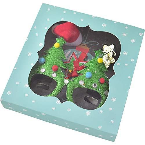 Blisfille 2 PCS Adornos de Navidad Madera Arbol de Navidad con Piñas...