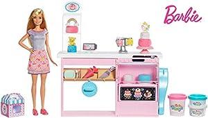 Barbie - Barbie y su Pastelería, Muñeca con Cocina y Accesorios (Mattel GFP59)