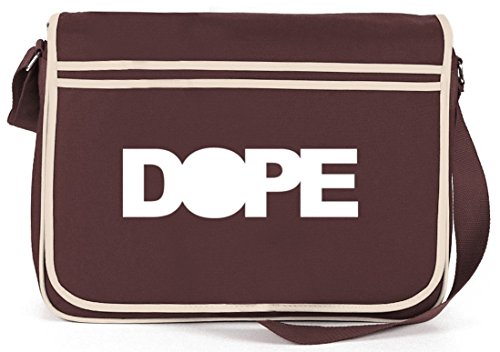 Shirtstreet24, DOPE TALL, Retro Messenger Bag Kuriertasche Umhängetasche , Größe: onesize,Braun (Rucksack Damen Tall)
