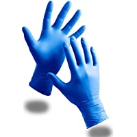 100 Pack Of Kids Children's Strong Powder Free Blue Nitrile Disposable Gloves - Comes With TCH Anti-Bacterial Pen!