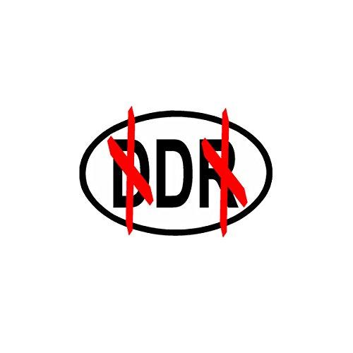 Aufkleber / Sticker - DDR D Deutsche Demokratische Bundesrepublik BRD Wiedervereinigung 10x7cm #A902