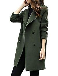 Elegante Abbigliamento Lana it Cappotto Amazon Donna wZn7xf6Cxq