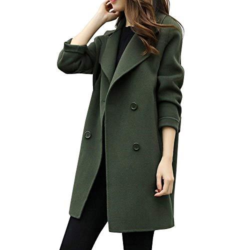 Donna elegante giacca invernale corta trapuntata da donna piumino giacca con cappuccio calda cappotti(army verde,small)