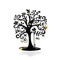 Full Health Sporting Jewelry Tree Branch Stand Black Metal Large Storage Earrings Holder Organizer Jewelry Rack Tower