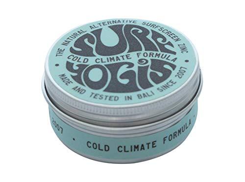 SURFYOGIS Original, 100% Natural, Surfscreen Zinc, Cold Climate Formula, Sonnencreme, Sonnenschutz, 60g, Riff freundlich, Surfen