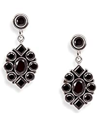 Silverwala 925-92.5 Sterling Silver Onyx Stone Fashion Earrings for Women and Girls