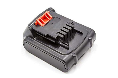 vhbw Li-Ion Akku 2000mAh (14.4V) für Werkzeuge Black & Decker EPL148, LDX116, LDX116C, LDX120C, LDX120SB wie Black & Decker BL1114, BL1314, BL1514.