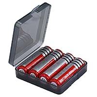 Yistu Battery Case Holder Storage Box for 4x18650 Batteries (Dark Gray)