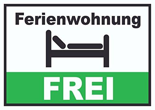 Preisvergleich Produktbild Ferienwohnung FREI Schild Pension Motel Hotel Zimmer Frei A1 (594x841mm)