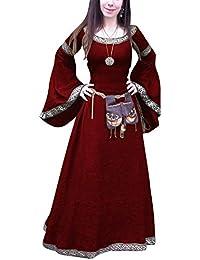 ShiFan Trajes De Fiesta Largos para Mujer Tallas Grandes Disfraz Medieval  Vestidos Vintage Largos fda89194723