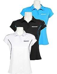 Babolat Polo match core torso-ropa de chica, todo el año, unisex, color Negro - negro, tamaño 15 años (164 cm)
