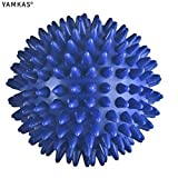 Yamkas Ball de Massage Picot 6cm | Boule de Massage Pieds, Dos | Spikey Ball Reflexologie, Tigger Point, Plantar Fasciitis