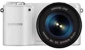 "Samsung NX2000 Kit compact hybride Ecran 3,7"" (9,39 cm) 20,3 Mpix USB/Wi-Fi + Objectif 18-55 mm Blanc"