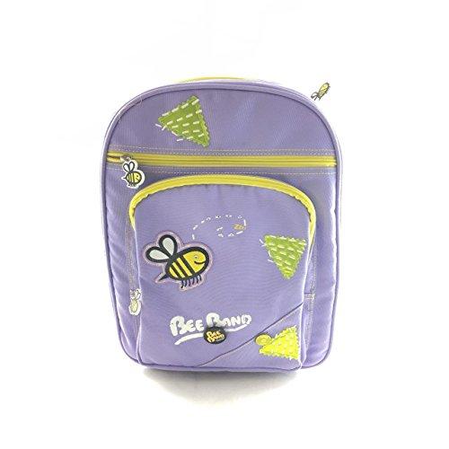 CARTORAMA Rucksack Schule Mädchen Grundschule amerikanischen Bee Band violett -