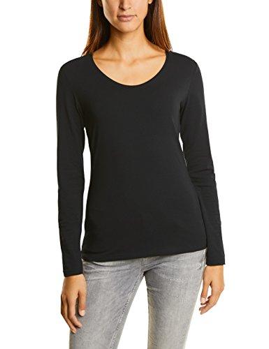 Street One Damen Langarmshirt 311565 Uta Schwarz (Black 10001), 36 (Jeans Elasthan Langarm)