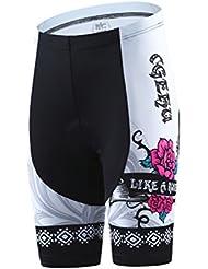 dushow blanco y negro de alta calidad mujeres/señoras manga corta ciclismo Jersey Pant Set