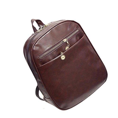 BZLine® Frauen Leder Tasche Schulter Tasche Rucksack Modeschule Rucksack, 31cm*25cm*9cm Kaffee