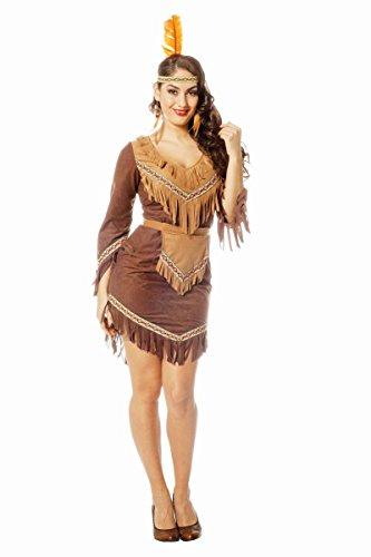 m Indianerin Squaw braun Karneval Fasching Gr.40 ()